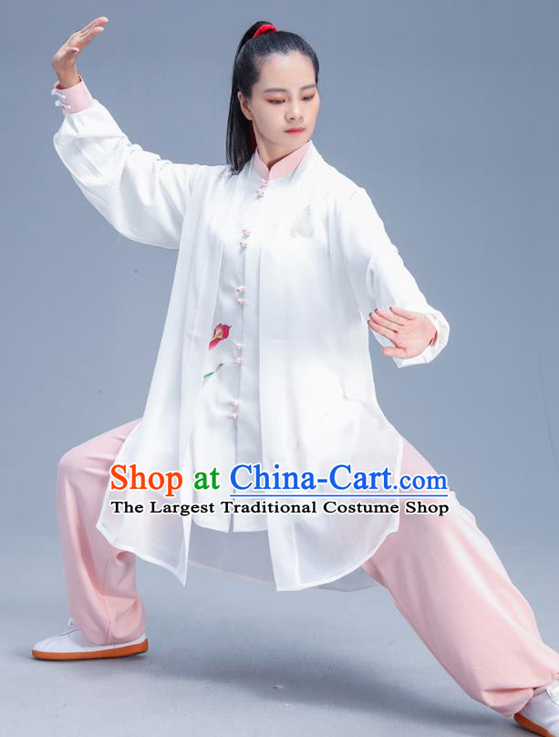 Chinese Traditional Kung Fu Competition Printing Orchid Outfits Martial Arts Stage Show Costumes for Women