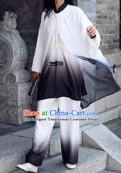 Chinese Martial Arts Stage Show Garment Outfits Traditional Tai Chi Kung Fu Costumes for Adult