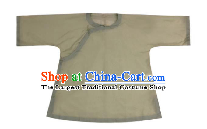 Chinese Traditional Green Silk Shirt National Upper Outer Garment Tang Suit Blouse Costume for Women