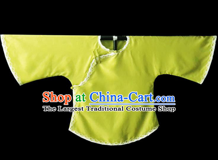 Chinese Traditional Green Shirt National Tang Suit Upper Outer Garment Blouse Costume for Women