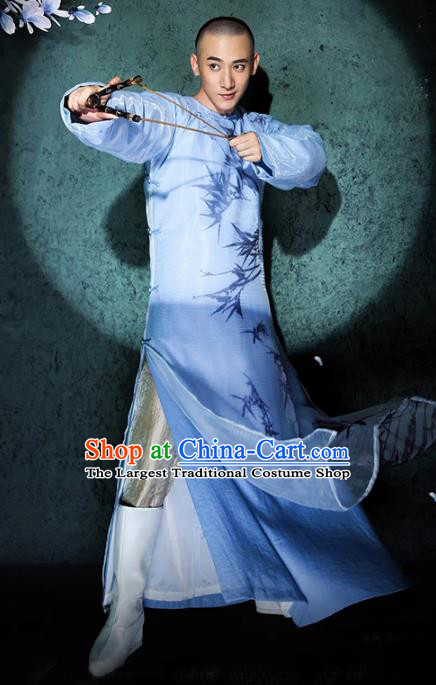 Chinese Traditional Qing Dynasty Prince Clothing Ancient Drama Manchu Childe Historical Costumes for Men