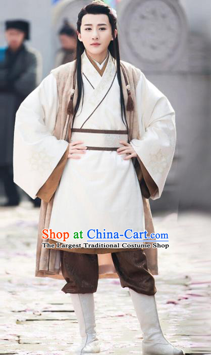 Chinese Traditional Ming Dynasty Civilian Male Clothing Ancient Drama Swordsman Historical Costumes for Men
