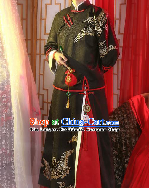 Chinese Traditional Embroidered Clothing Tang Suit Mandarin Jacket Cosplay Costumes for Men