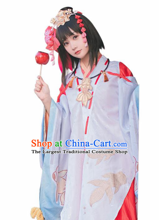 Japanese Traditional Cosplay Geisha Kimono Dress Japan Onmyoji Costumes for Women