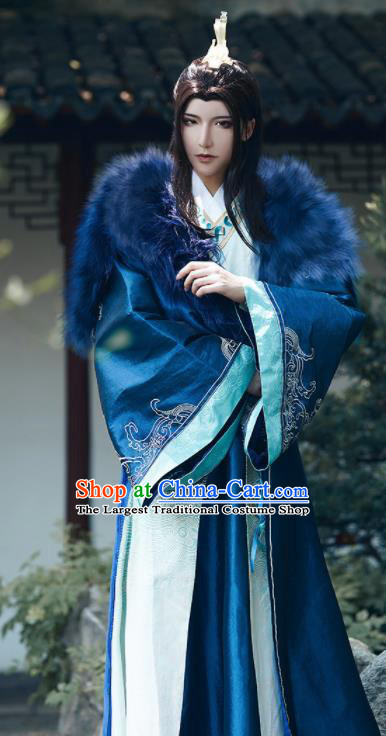 Chinese Traditional Cosplay Royal Highness Clothing Ancient Swordsman Costumes for Men