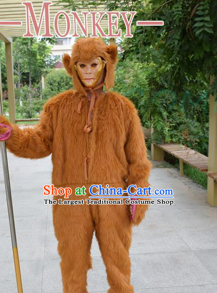Cosplay Zodiac Monkey Traditional Chinese New Year Stage Performance Costume Complete Set