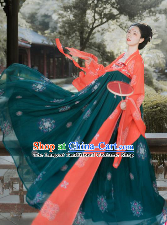 Traditional Chinese Tang Dynasty Royal Princess Hanfu Dress Ancient Court Lady Historical Costumes for Women