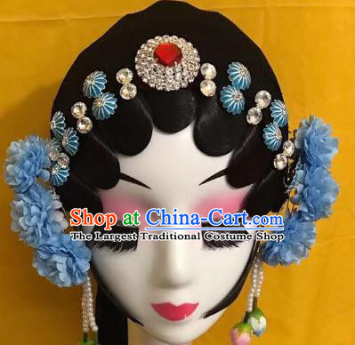 Traditional Chinese Beijing Opera Wigs and Hairpins Headdress Peking Opera Diva Hair Accessories for Women