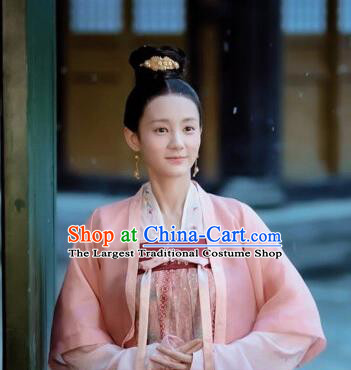 Drama Royal Nirvana Chinese Ancient Song Dynasty Nobility Lady Lu Wenxi Replica Costumes for Women