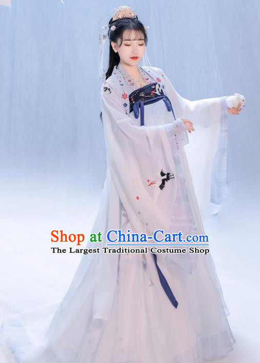 Chinese Traditional Song Dynasty Palace Infanta Hanfu Dress Ancient Court Princess Historical Costumes for Women