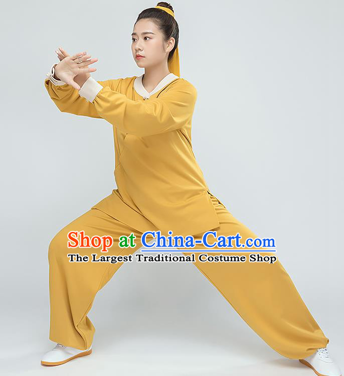Traditional Chinese Tai Chi Kung Fu Ginger Outfits Martial Arts Stage Performance Costumes for Women