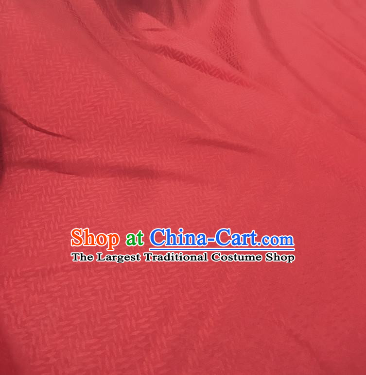 Chinese Traditional Design Pattern Red Silk Fabric Cheongsam Mulberry Silk Drapery