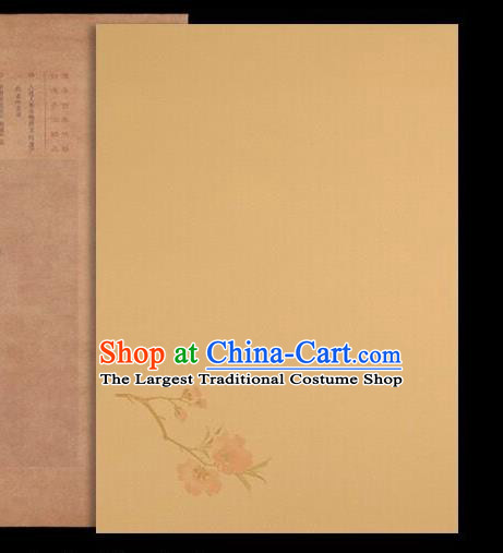 Traditional Chinese Ginger Poem Paper Handmade The Four Treasures of Study Writing Art Paper