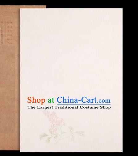 Traditional Chinese Beige Poem Paper Handmade The Four Treasures of Study Writing Art Paper