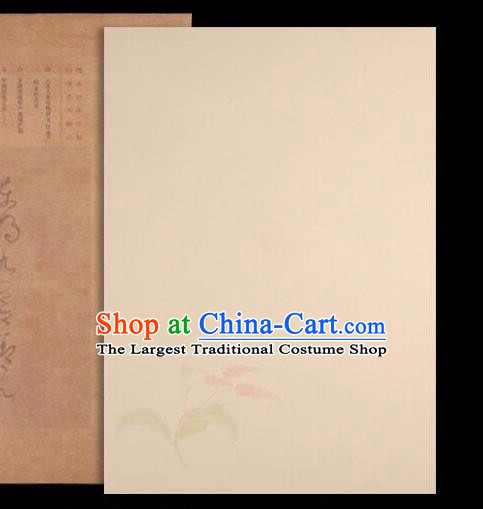 Traditional Chinese Flaxen Poem Paper Handmade The Four Treasures of Study Writing Art Paper