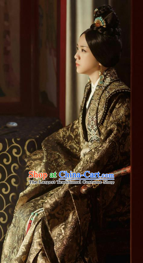 Chinese Ancient Drama Ming Dynasty Queen Mother Sun Ruowei Replica Costumes and Headpiece Complete Set
