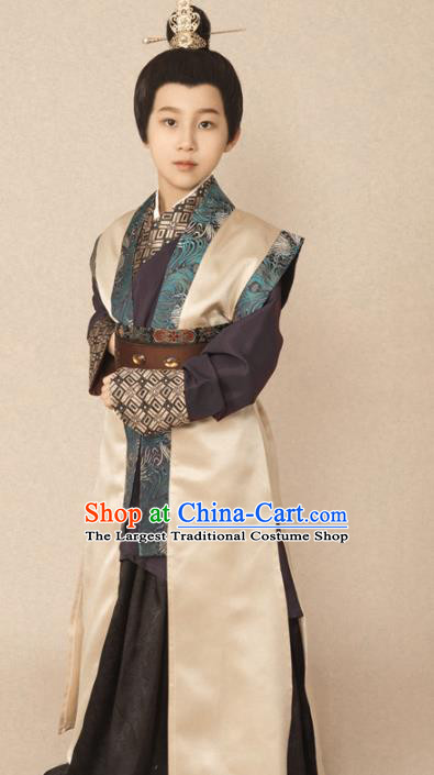 Chinese Ancient Drama Children Swordsman Hanfu Clothing Traditional Tang Dynasty Prince Replica Costumes for Kids