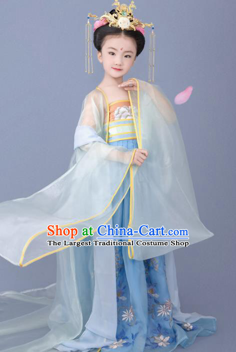 Chinese Ancient Children Hanfu Dress Traditional Tang Dynasty Princess Replica Costumes for Kids