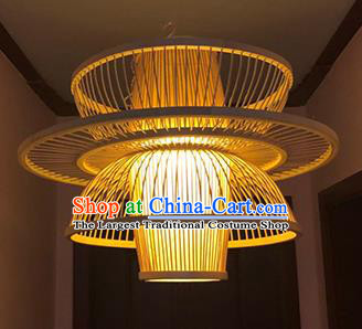 Chinese Traditional Bamboo Weaving Flower Basket Palace Lanterns Handmade Hanging Lantern Lamp