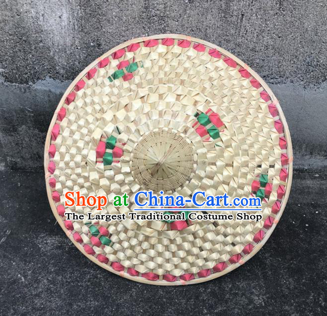 Handmade Chinese Pineapple Straw Hat Traditional Bamboo Hat Craft