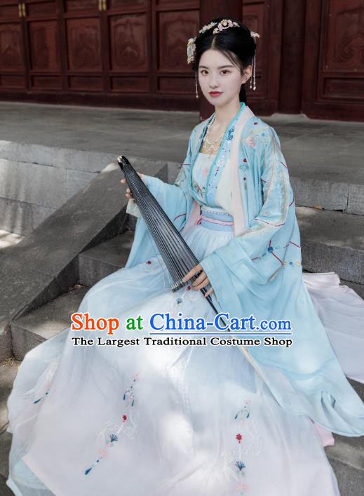 Chinese Traditional Song Dynasty Princess Dress Ancient Patrician Lady Historical Costumes for Women