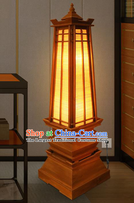 Southeast Asia Traditional Wood Floor Lantern Thailand Handmade Lanterns