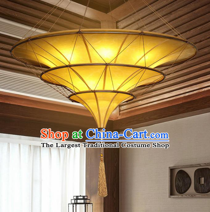 Asian Traditional Imitation Sheepskin Ceiling Lantern Thailand Handmade Lanterns Hanging Lamps