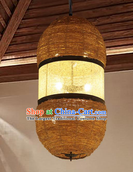 Asian Traditional Rattan Ceiling Lantern Thailand Handmade Lanterns Hanging Lamps