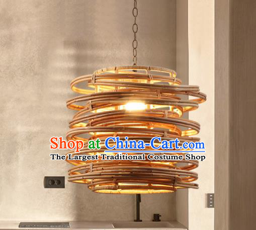Asian Traditional Bamboo Weaving Ceiling Lantern Thailand Handmade Lanterns Hanging Lamps