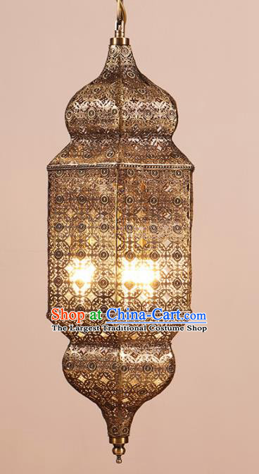 Asian Traditional Iron Ceiling Lantern Thailand Handmade Lanterns Hanging Lamps