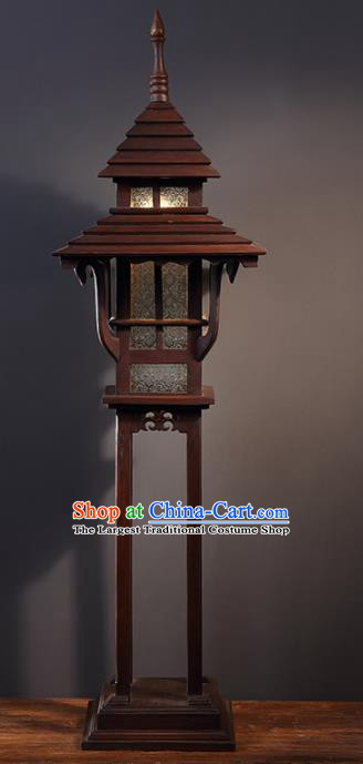 Southeast Asia Traditional Wood Carving Floor Lantern Thailand Handmade Lanterns