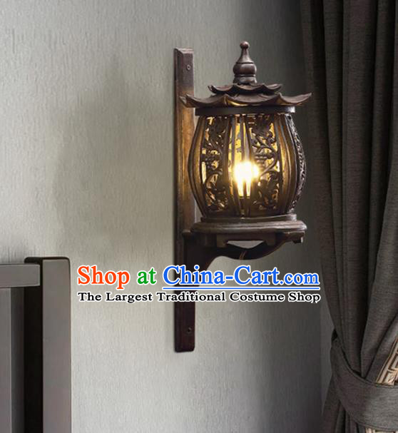 Southeast Asia Traditional Wood Carving Grape Wall Lantern Thailand Handmade Lanterns