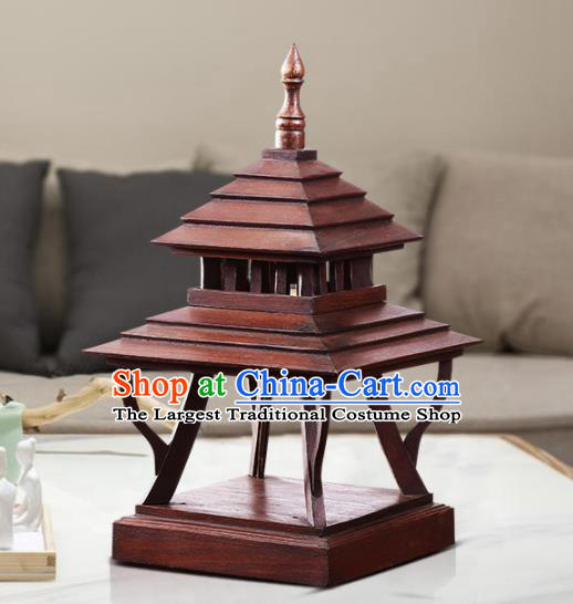 Southeast Asia Traditional Wood Carving Desk Lantern Thailand Handmade Lanterns