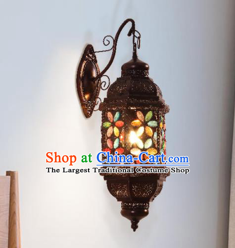 Southeast Asia Traditional Iron Grass Wall Lantern Thailand Handmade Lanterns
