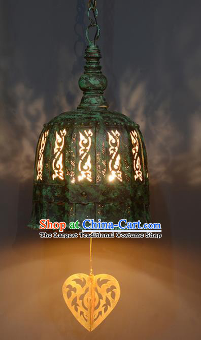 Asian Traditional Antique Iron Ceiling Lantern Thailand Handmade Lanterns Hanging Lamps