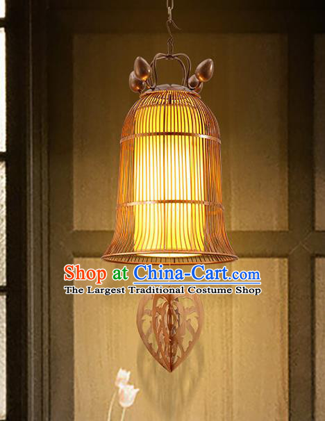 Asian Traditional Iron Yellow Ceiling Lantern Thailand Handmade Lanterns Hanging Lamps
