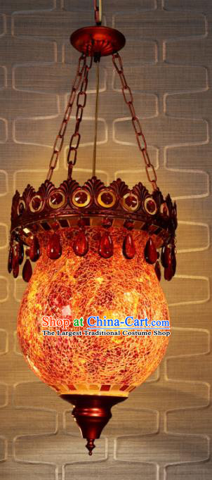 Asian Traditional Ceiling Lantern Thailand Handmade Iron Lanterns Hanging Lamps