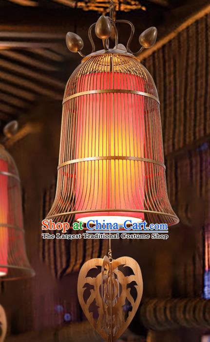Asian Traditional Iron Red Ceiling Lantern Thailand Handmade Lanterns Hanging Lamps