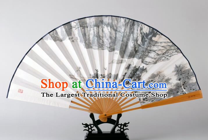 Traditional Chinese Handmade Ink Painting Paper Folding Fan China Bamboo Fan Oriental Fan