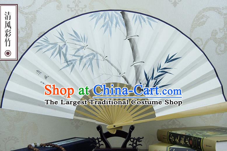Traditional Chinese Hand Painting Bamboo Paper Fan China Accordion Folding Fan Oriental Fan