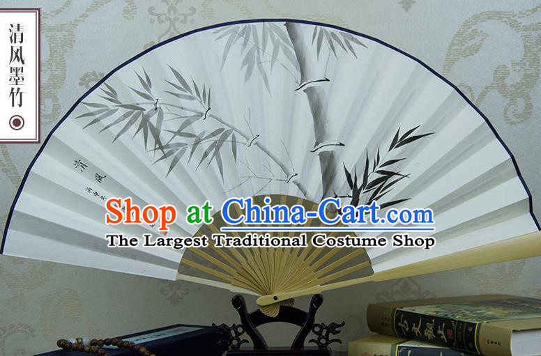 Traditional Chinese Hand Ink Painting Bamboo Paper Fan China Accordion Folding Fan Oriental Fan