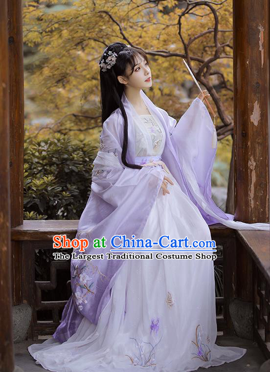 Chinese Traditional Tang Dynasty Princess Historical Costume Ancient Patrician Lady Hanfu Dress for Women