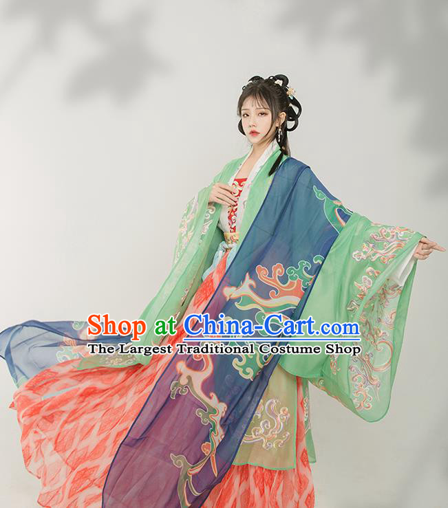 Chinese Traditional Tang Dynasty Palace Lady Historical Costume Ancient Princess Hanfu Dress for Women
