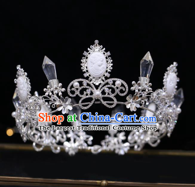Top Grade Bride Baroque Princess Crystal Royal Crown Wedding Hair Accessories for Women