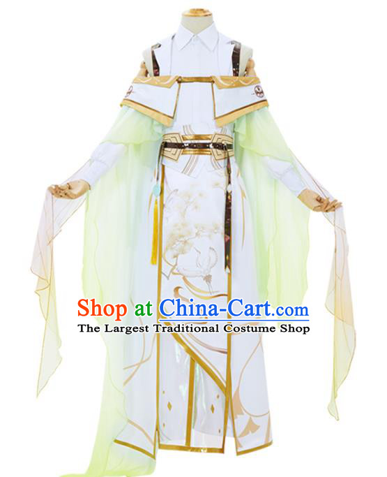 Traditional Chinese Cosplay Knight Costume Ancient Swordsman Hanfu Clothing for Men