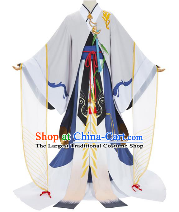 Traditional Chinese Cosplay Prince Knight Costume Ancient Swordsman Hanfu Clothing for Men