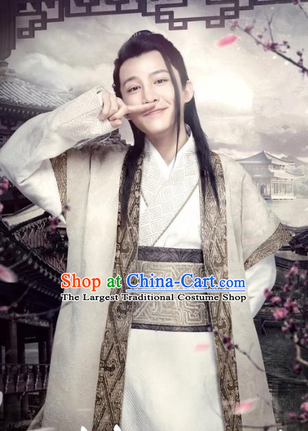 Historical Drama Love is More Than A Word Chinese Ancient Swordsman Hao Guozi Costume for Men