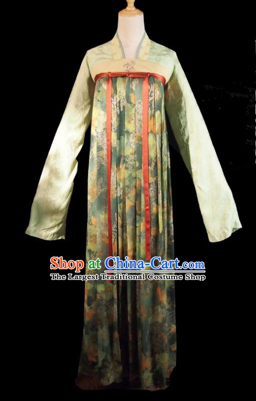 Chinese Ancient Princess Costume Historical Drama Royal Nirvana Song Dynasty Green Hanfu Dress for Women