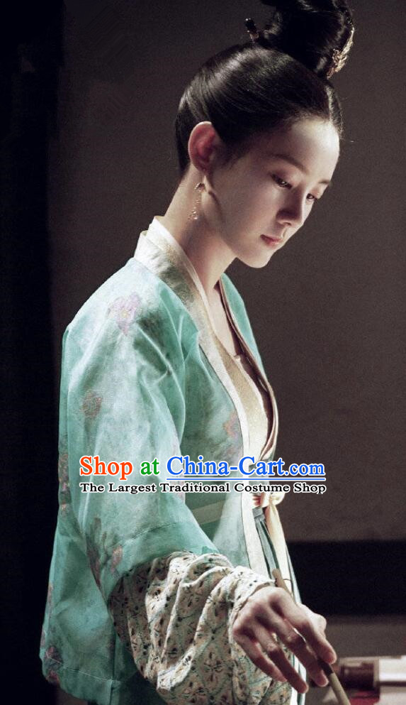 Chinese Ancient Nobility Lady Lu Wenxi Costume Historical Drama Royal Nirvana Song Dynasty Hanfu Dress for Women