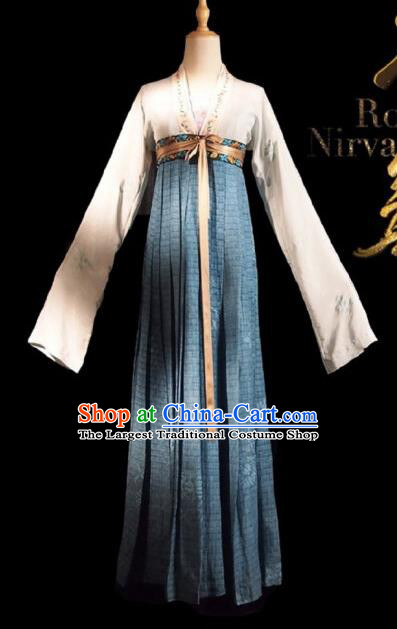 Chinese Ancient Palace Lady Lu Wenxi Costume Historical Drama Royal Nirvana Song Dynasty Hanfu Dress for Women